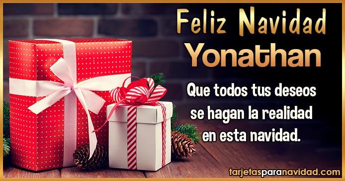 Feliz Navidad Yonathan