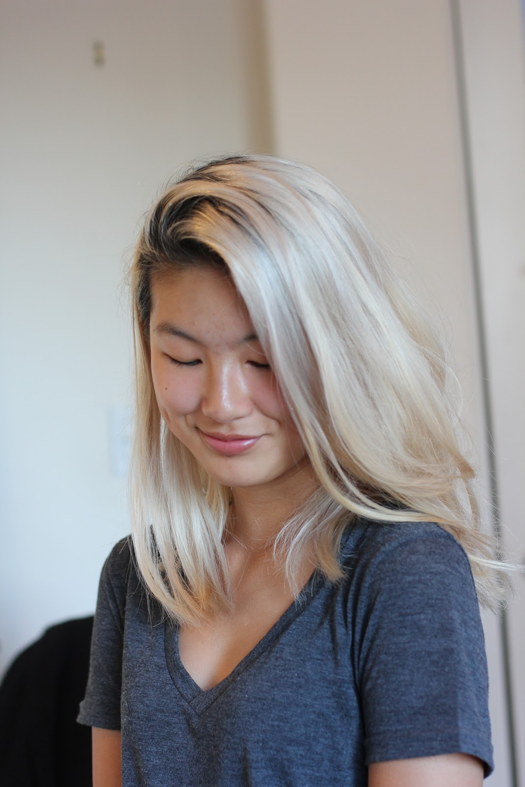 %name Platinum Bleach Blonde Hair
