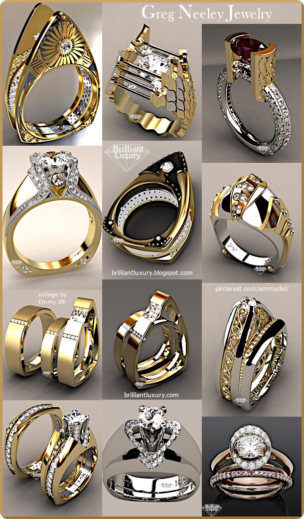 ♦Greg Neeley Jewelry Ring Collection #gregneeley #jewelry #brilliantluxury