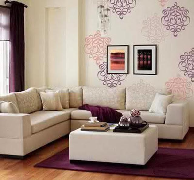Contoh Dekorasi Hiasan Dinding Ruang Tamu  Gambar Rumah