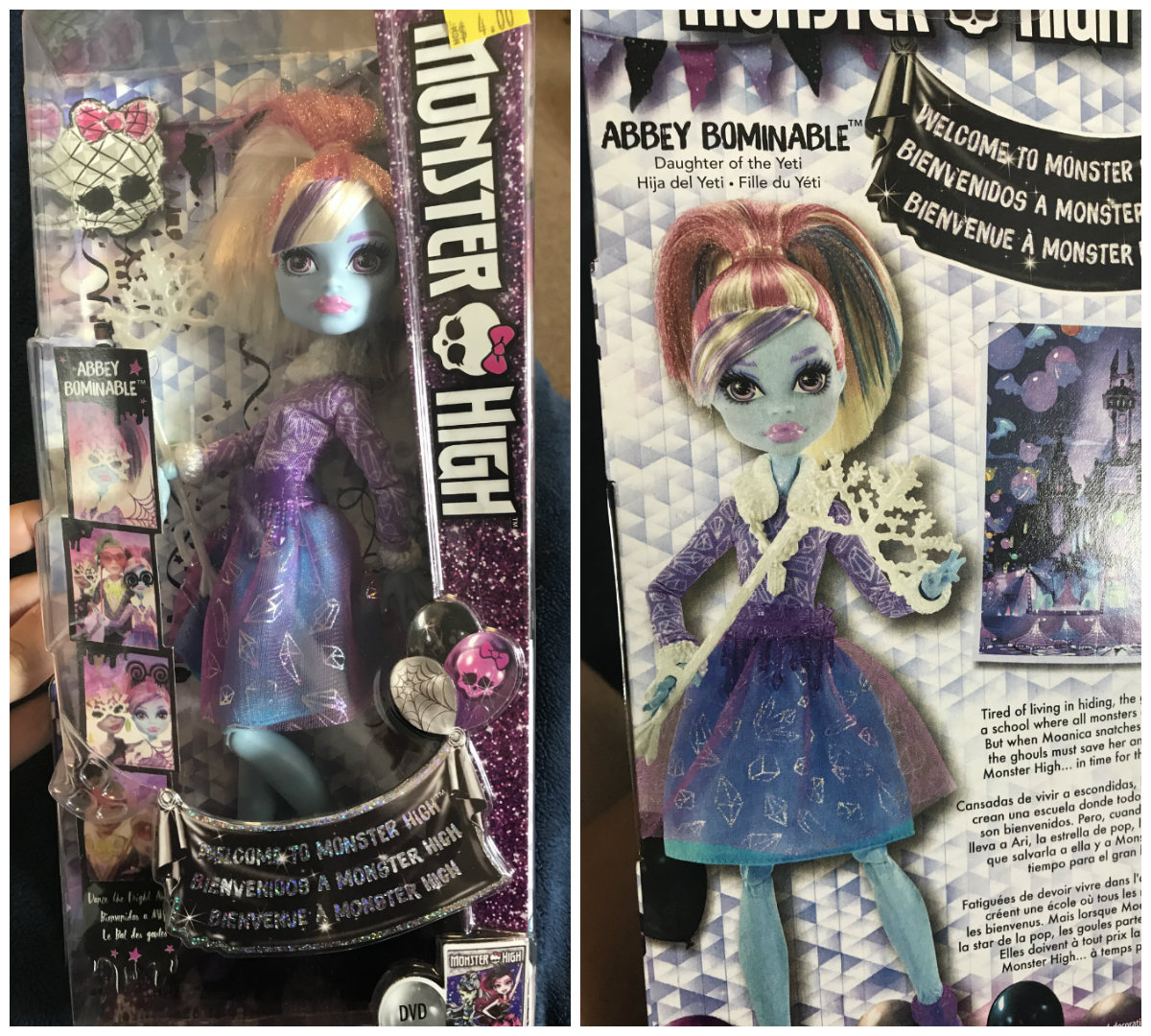 in the box she has no box art probably because she wasnt even in the movie - Les Monster High