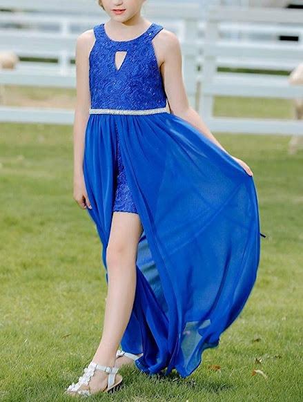 Beautiful Chiffon Girls Junior Bridesmaid Dresses