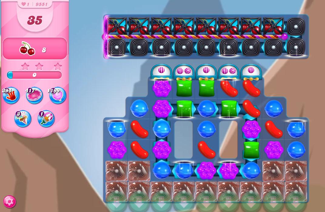 Candy Crush Saga level 9551