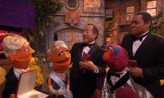 Alan, Chris, and Telly welcome the viewer. The Count von Count will Get the Noble Prize for counting. Sesame Street Count On Elmo