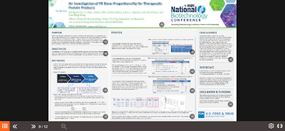 Sample online poster from National Biotechnology Conference 2021