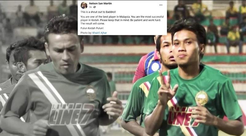 Gambar NELSON (kiri) dan Baddrol ketika sama-sama berganding untuk membantu Kedah meraih kejayaan 'double treble'. FOTO Ihsan Nelson Sam Martin
