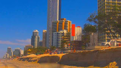 Surfers Paradise Beach Destroyed