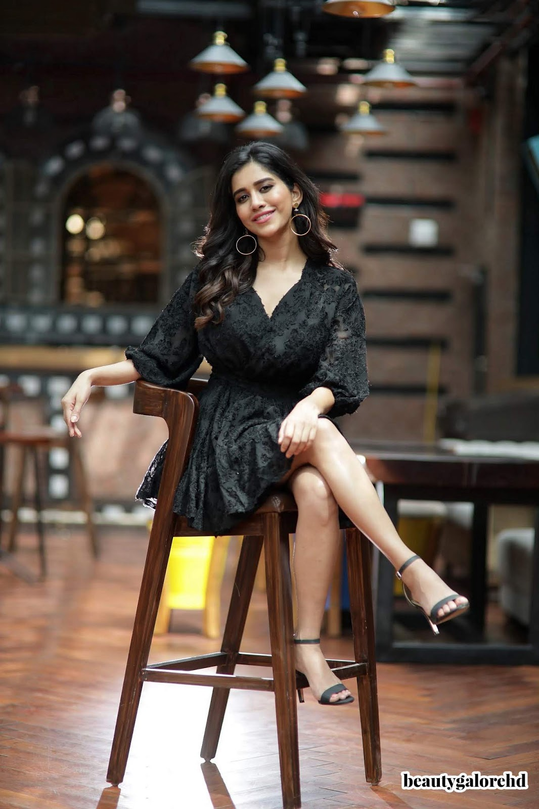 Nabha Natesh in Beautiful Black Mini Gown