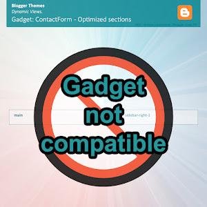 Emplacement optimisé Widget ContactForm - Theme V2 Dynamic