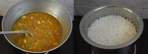 kadamba sambar and rice
