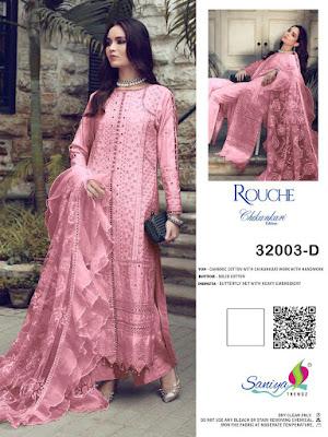 Saniya Trendz Rouche 32003 Hit Design Pakistani Suits