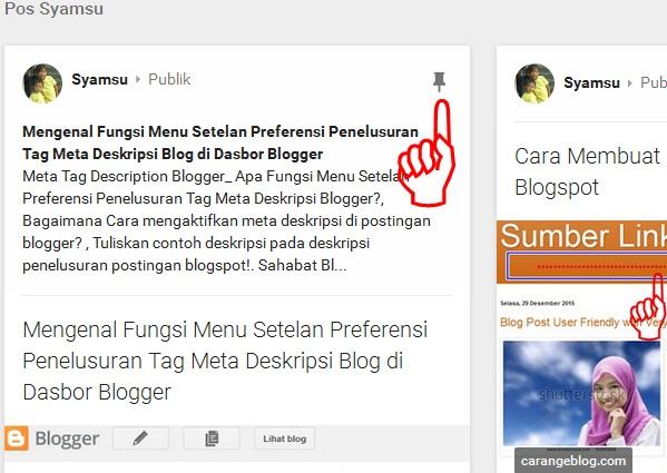 Menyematkan artikel blog di profil google plus