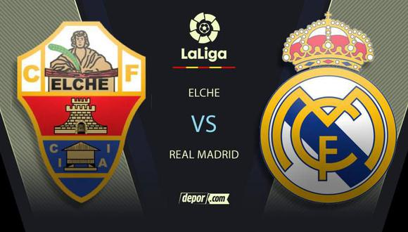 Real Madrid vs. Elche EN VIVO: LaLiga Santander