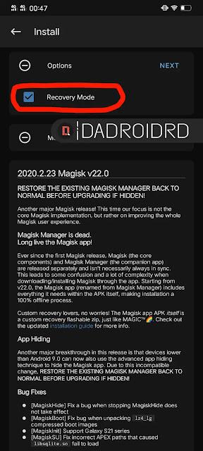 Cara ROOT Android dengan Magisk APK via TWRP dan Patched boot / recovery
