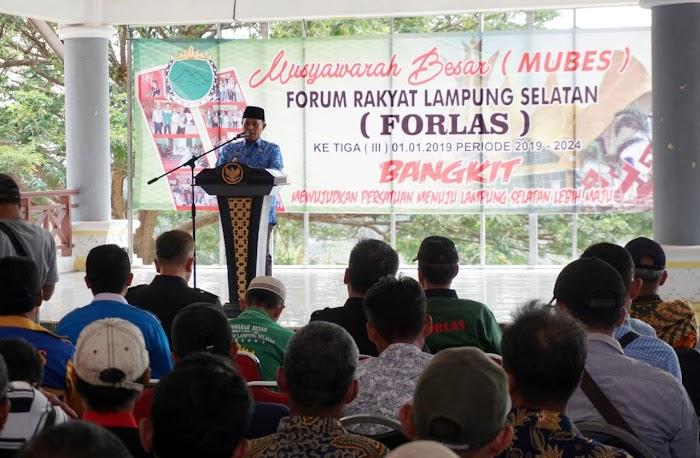 Plt Bupati Nanang Ermanto, Mengajak Forlas Bersinergi Dengan Pemkab Lamsel.