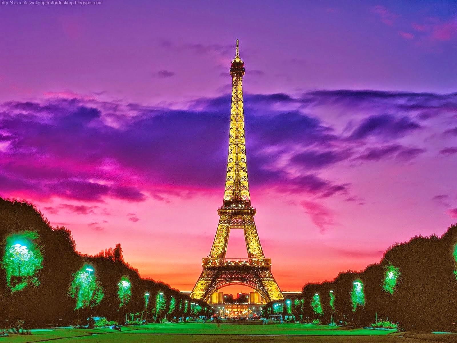 Cute Pink Eiffel Tower Wallpaper