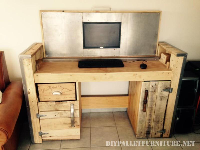 escritorio para pc desplegable. Black Bedroom Furniture Sets. Home Design Ideas