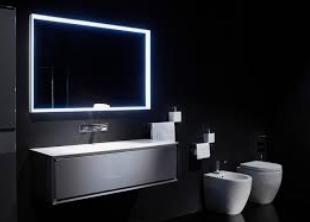 ديكور حمامات أنيقة باللون الأسود