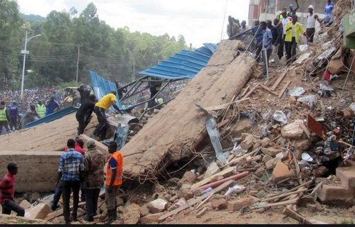 6 Killed In Kenyan Hospital Wall Collapse