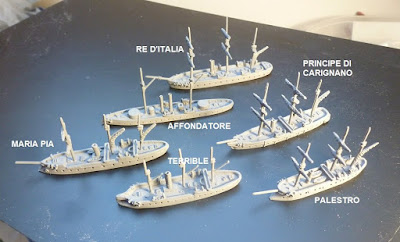 Italian Ironclads  set  1),  six ships  £32