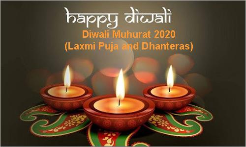 Diwali Muhurat 2020: Laxmi Puja and Dhanteras Shubh Muhurats Timing - Dates