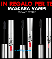 Logo Pupa ti regala il Mascara Vamp formato speciale