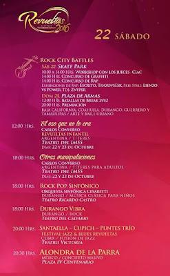 programa festival revueltas durango 2016