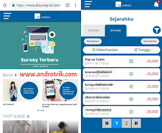 Web penghasil Pulsa gratis terbukti membayar disurvey-id.com
