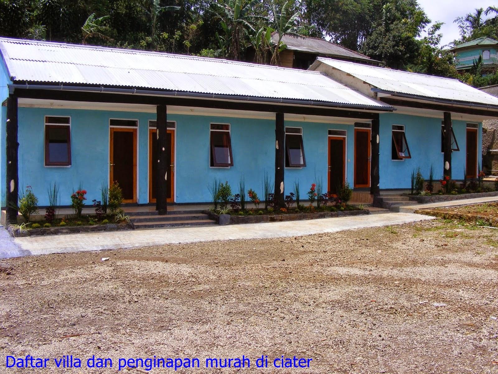 villa dan penginapan di wisata pemandian air panas alam ciater
