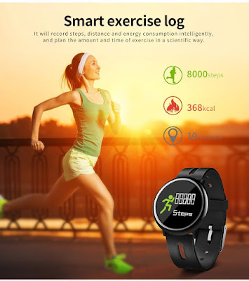 Fitness Tracker Activity Tracker with Heart Rate Monitor Blood Pressure Sleep Monitor Step Counter Bluetooth Waterproof Smart Watch Bracelet for Android iOS Men Women