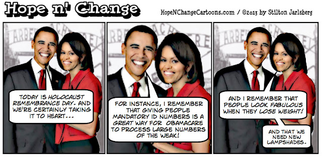 obama, obama jokes, holocaust, yom hashoah, stilton jarlsberg, hope n' change, hope and change, auschwitz