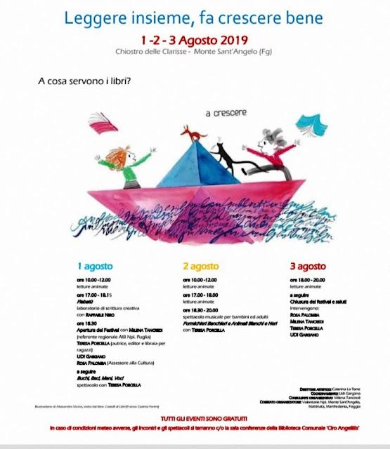 """""""Leggere insieme, fa crescere bene"""", la tre giorni letteraria di Monte Sant'Angelo per i più piccini"""