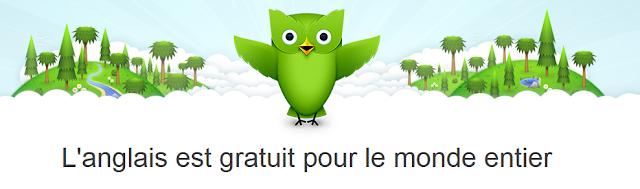 (Mobile) On peut apprendre à parler Anglais avec Duolingo