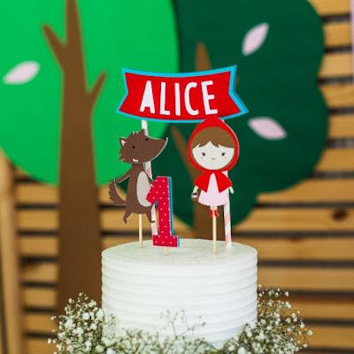 topo bolo chapeuzinho vermelho festa