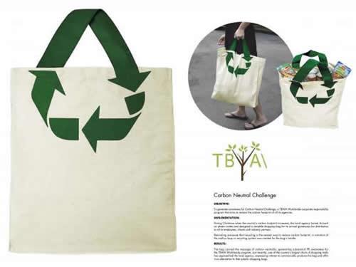 Desain Paper Bag/ Tas Belanja Daur Ulang, sampah