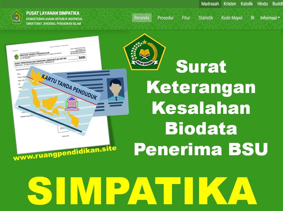 Surat Keterangan Biodata BSU
