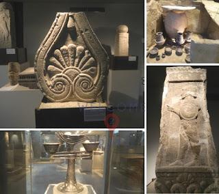 Mosaico - 4 immagini - reperti del Museo Archeologico