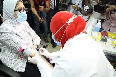 وزيرة الصحة تشارك في التجارب الإكلينيكية للقاح فيروس كورونا