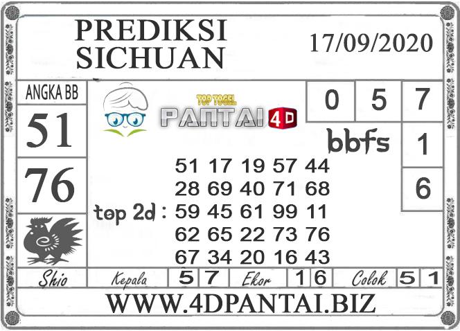 PREDIKSI TOGEL SICHUAN PANTAI4D 17 SEPTEMBER 2020