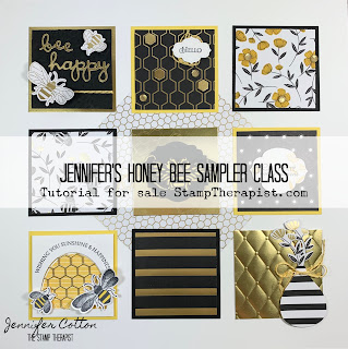 Stampin' Up! Honey Bee Sampler Class Tutorial!