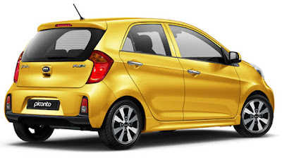 KIA Picanto right side rear view three qauters Images