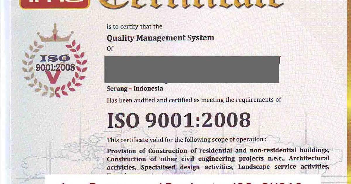 Jasa Sertifikasi ISO dan OHSAS - Jasa Sertifikasi SKA