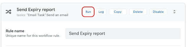 AppSheetで在庫管理、レポートを手動で起動する