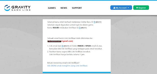 Daftar ID Gravity Game Link