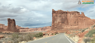 Typical road shoulders in Arches National Park
