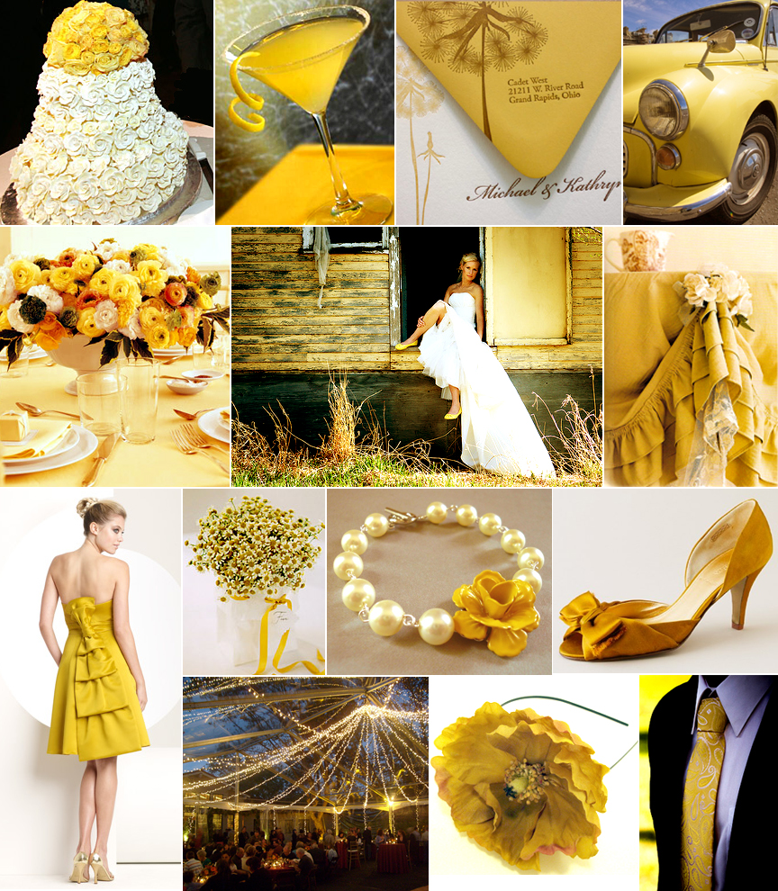 Silver Wedding Invitations: Yellow Wedding Favor Ideas