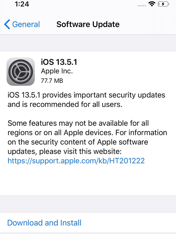 iOS 13.5.1 Features