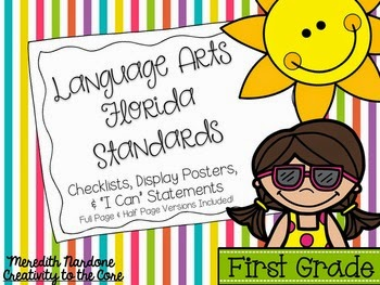 http://www.teacherspayteachers.com/Product/LAFS-Language-Arts-Florida-Standards-1st-Grade-Rainbow-Stripe-1347119