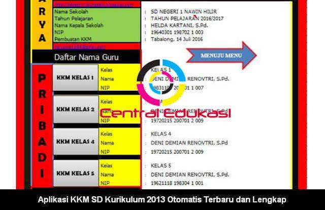 Download Aplikasi KKM SD Kurikulum 2013 Revisi Terbaru dan Lengkap
