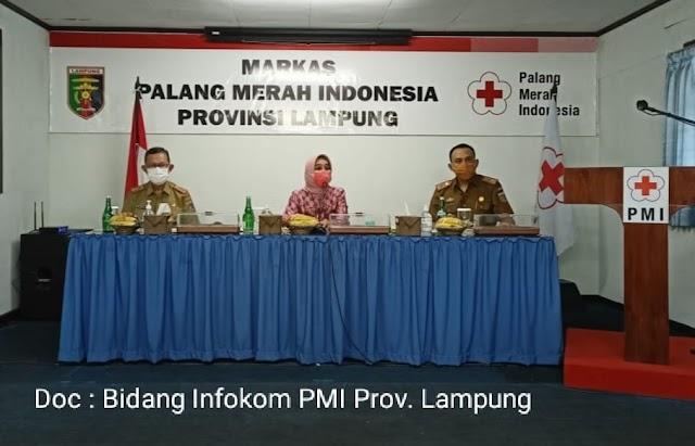 Ketua PMI Provinsi Lampung Gelar Rakor Dan Konsolidasi Pengurus PMI